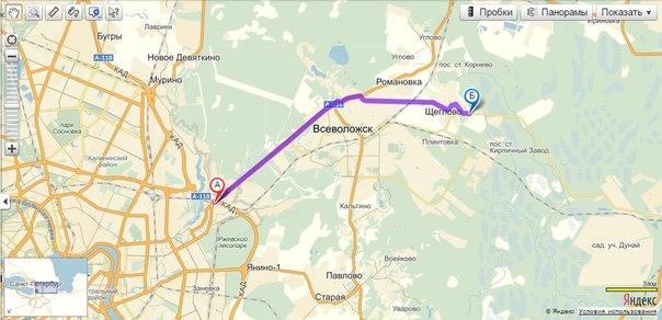 Как проехать в Щеглово